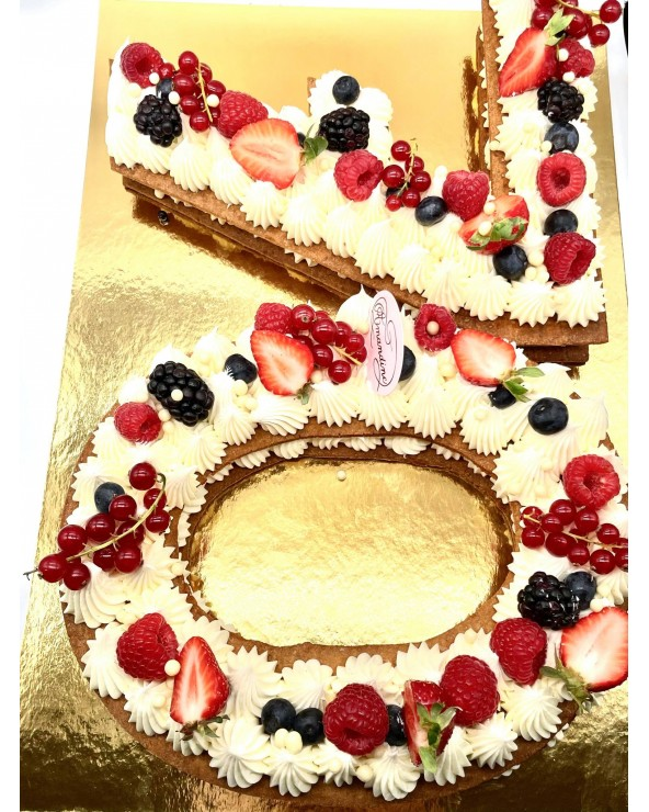 Number Cake - by Amandine Patisserie