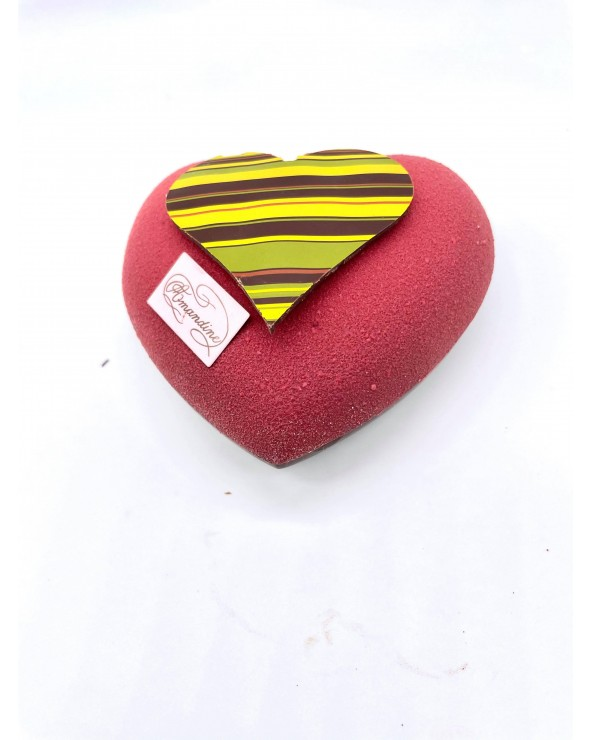 Grand Coeur Rouge Garni Saint Valentin by Amandine Chocolatier